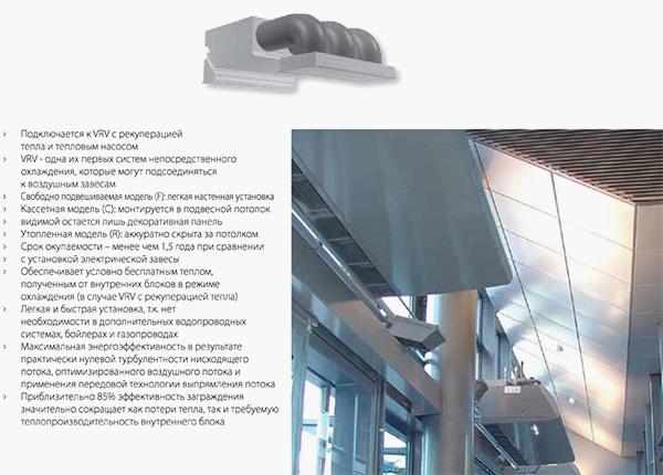 Система VRV та Фреонова теплова завіса